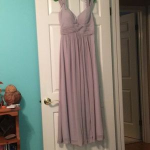 Lulus Light Grey gown